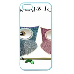 Owl Always Love You, Cute Owls Apple Seamless Iphone 5 Case (color) by DigitalArtDesgins