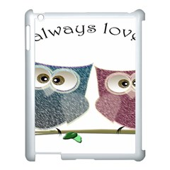 Owl Always Love You, Cute Owls Apple Ipad 3/4 Case (white)