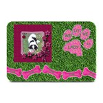 Lady dog food mat - Plate Mat