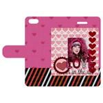 love - Apple iPhone 5 Woven Pattern Leather Folio Case