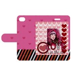 love - Apple iPhone 4/4S Woven Pattern Leather Folio Case
