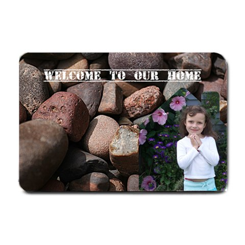 Welcome By Amanda H    Small Doormat   G5t09wj15x9n   Www Artscow Com 24 x16 Door Mat - 1