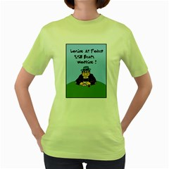 Losing At Poker Women s Green T Shirt by ColemantoonsFunnyStore