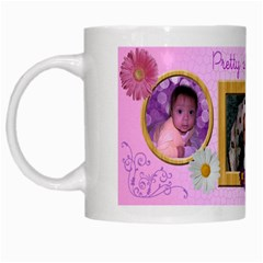 Flower Mug By Angeye   White Mug   Wm9xwkrp27uc   Www Artscow Com Left
