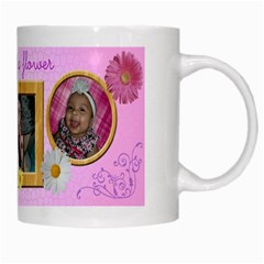 Flower Mug By Angeye   White Mug   Wm9xwkrp27uc   Www Artscow Com Right