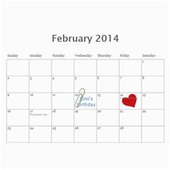Tali7 By Aviva   Wall Calendar 11  X 8 5  (12 Months)   80ru6a2bp4e9   Www Artscow Com Feb 2014