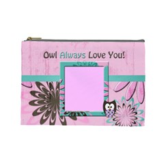 Large Bag   Owl 2 By Emily   Cosmetic Bag (large)   0prvms3mq2wy   Www Artscow Com Front