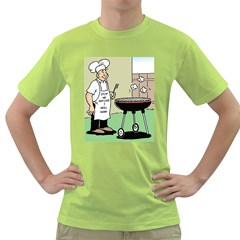Stop Me Before I Grill Again Green Mens  T Shirt
