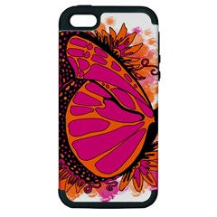 Pink Butter T Copy Apple Iphone 5 Hardshell Case (pc+silicone) by colormebrightly