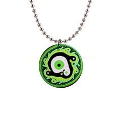 Uru Native Fractal   Mini Button Necklace by 011art