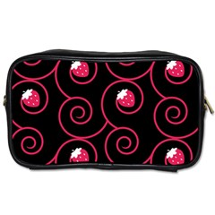20130503 Oriental Black Twin Sided Personal Care Bag by strawberrymilk