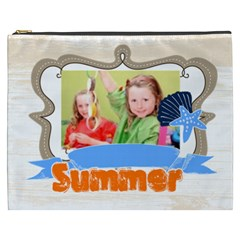Summer Of Kids By Mac Book   Cosmetic Bag (xxxl)   Clzks7o8d0gm   Www Artscow Com Front