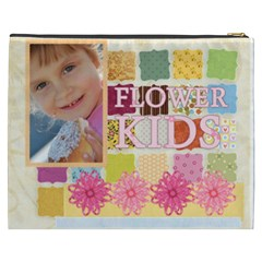 Flower Kids By Jo Jo   Cosmetic Bag (xxxl)   Uowcsmk6ayak   Www Artscow Com Back