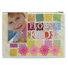 Flower Kids By Jo Jo   Cosmetic Bag (xxl)   348d3ndsiac9   Www Artscow Com Back