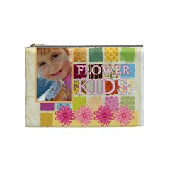 Flower Kids By Jo Jo   Cosmetic Bag (medium)   Ne1b3t9a542p   Www Artscow Com Front