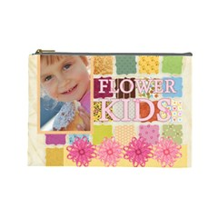 Flower Kids By Jo Jo   Cosmetic Bag (large)   Bdoeqrmevnaw   Www Artscow Com Front