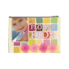 Flower Kids By Jo Jo   Cosmetic Bag (large)   Bdoeqrmevnaw   Www Artscow Com Back