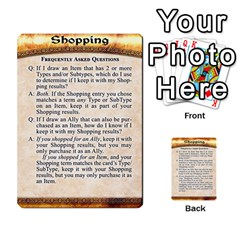 Cities Of Adventure: Reference Cards By Fantastic Diversions / Ofgi   Multi Purpose Cards (rectangle)   R4p0zmf66r2a   Www Artscow Com Front 51
