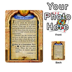 Cities Of Adventure: Reference Cards By Fantastic Diversions / Ofgi   Multi Purpose Cards (rectangle)   R4p0zmf66r2a   Www Artscow Com Back 40
