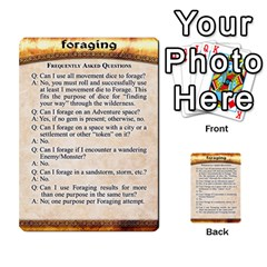 Cities Of Adventure: Reference Cards By Fantastic Diversions / Ofgi   Multi Purpose Cards (rectangle)   R4p0zmf66r2a   Www Artscow Com Front 48