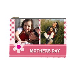Mothers Day By Mom   Cosmetic Bag (large)   K4forlcjhdtu   Www Artscow Com Front