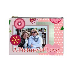 Mothers Day By Mom   Cosmetic Bag (large)   Agw02oxvbd4h   Www Artscow Com Front