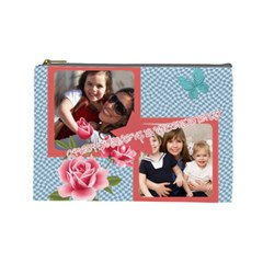Mothers Day By Mom   Cosmetic Bag (large)   Drwoar0a9hwi   Www Artscow Com Front