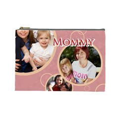 Mothers Day By Mom   Cosmetic Bag (large)   P9sm45bcrvl8   Www Artscow Com Front