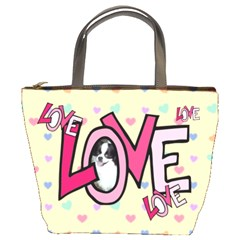 Love Bucket Bag By Joy Johns   Bucket Bag   3vfpxer8hbnk   Www Artscow Com Front