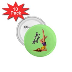Pin Up Girl 4 10 Pack Small Button (Round)
