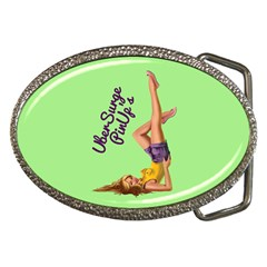 Pin Up Girl 4 Belt Buckle (oval) by UberSurgePinUps