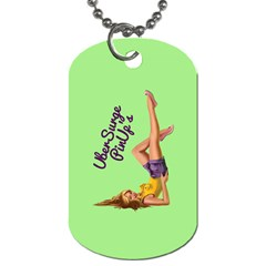 Pin Up Girl 4 Single Sided Dog Tag by UberSurgePinUps