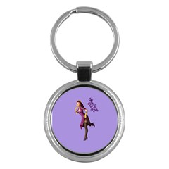 Pin Up 3 Key Chain (round) by UberSurgePinUps