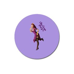 Pin Up 3 Large Sticker Magnet (round) by UberSurgePinUps