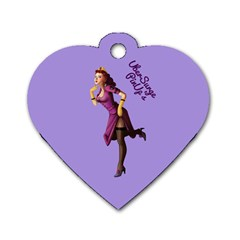 Pin Up 3 Single Sided Dog Tag (heart) by UberSurgePinUps