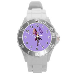 Pin Up 3 Round Plastic Sport Watch Large by UberSurgePinUps