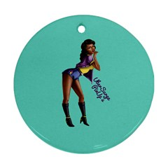 Pin Up 2 Ceramic Ornament (round)