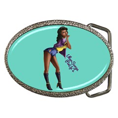 Pin Up 2 Belt Buckle (oval) by UberSurgePinUps