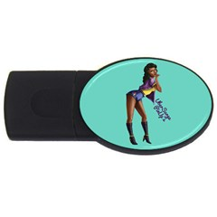 Pin Up 2 2Gb USB Flash Drive (Oval) by UberSurgePinUps