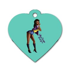 Pin Up 2 Twin Sided Dog Tag (heart) by UberSurgePinUps
