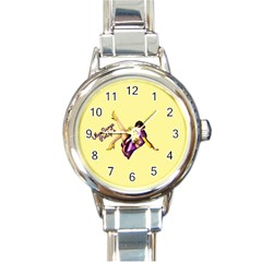 Pin Up Girl 1 Round Italian Charm Watch by UberSurgePinUps