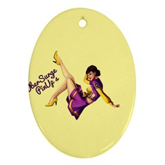 Pin Up Girl 1 Ornament (oval)