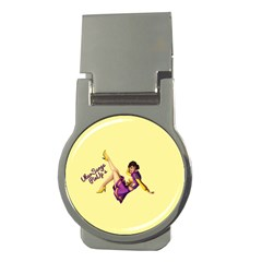 Pin Up Girl 1 Money Clip (round)