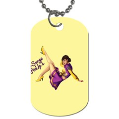 Pin Up Girl 1 Dog Tag (one Side) by UberSurgePinUps