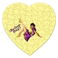 Pin Up Girl 1 Jigsaw Puzzle (heart)