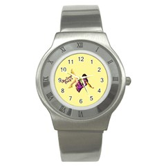 Pin Up Girl 1 Stainless Steel Watch by UberSurgePinUps