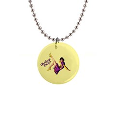 Pin Up Girl 1 1  Button Necklace by UberSurgePinUps
