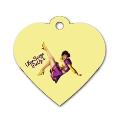 Pin Up Girl 1 Dog Tag Heart (one Side) by UberSurgePinUps