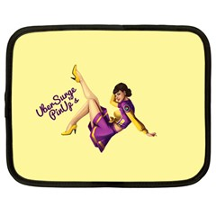 Pin Up Girl 1 Netbook Case (large)	 by UberSurgePinUps