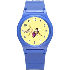 Pin Up Girl 1 Round Plastic Sport Watch Small by UberSurgePinUps